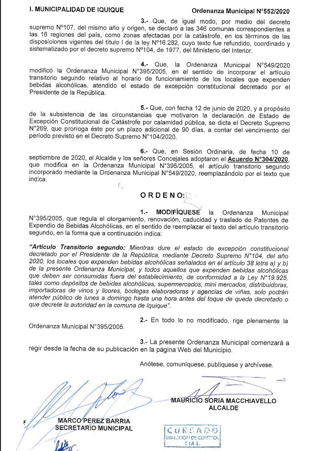 CONCEJO MUNICIPAL DE IQUIQUE APRUEBA NUEVO HORARIO DE FUNCIONAMIENTO PARA BOTILLERÍAS