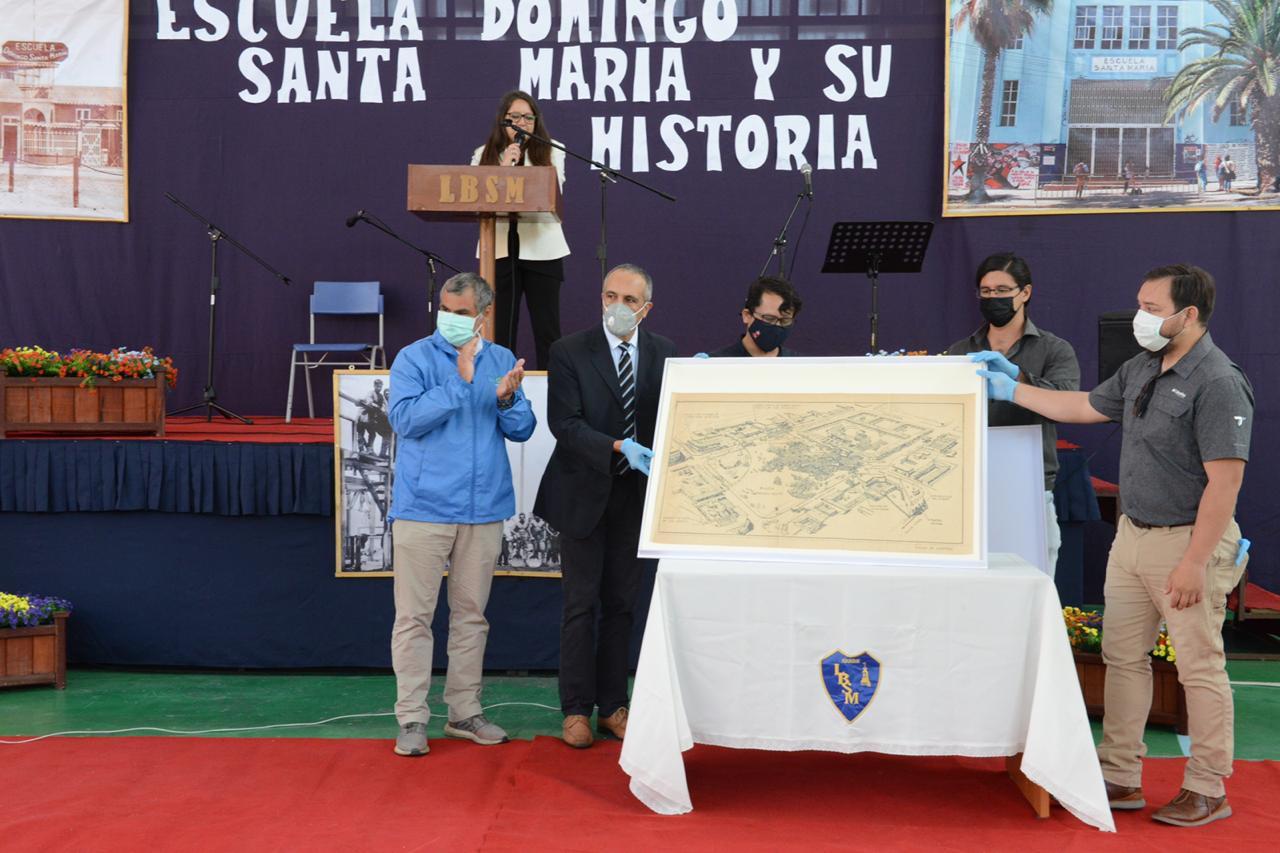Premio Nacional de Arquitectura entrega a Iquique antiguo plano de la Escuela Domingo Santa María