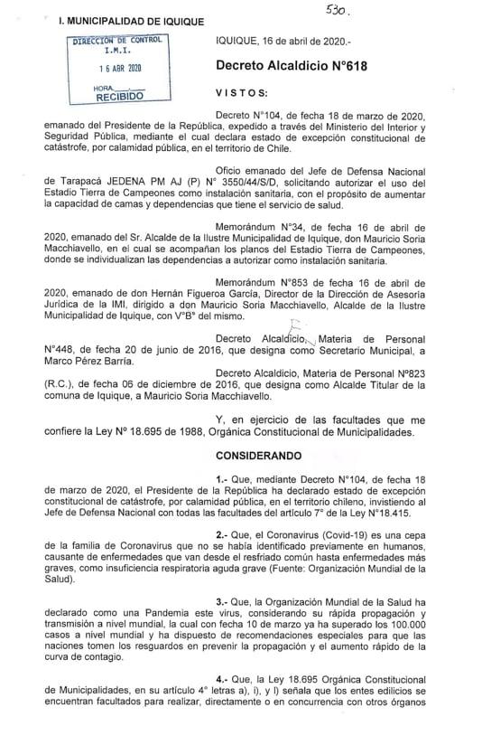 ESTADIO TIERRA DE CAMPEONES SE HABILITARÁ COMO RECINTO ASISTENCIAL DE CAMPAÑA