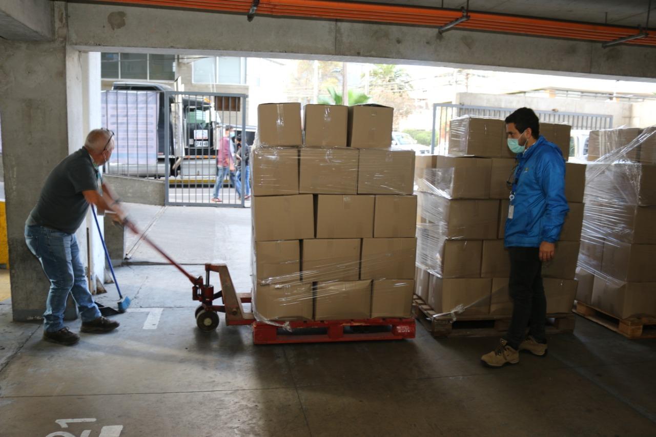 Compra cajas mercadería